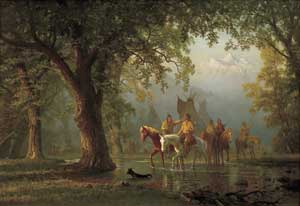 Bierstadt: Departure of an Indian War Party